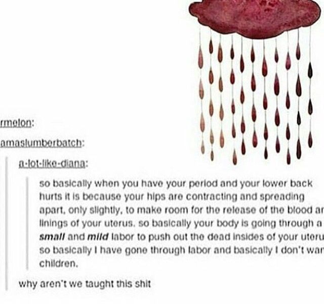Don T Tell A Girl Period Cramps Can T Be That Bad Period Humor Fun Facts Period Memes