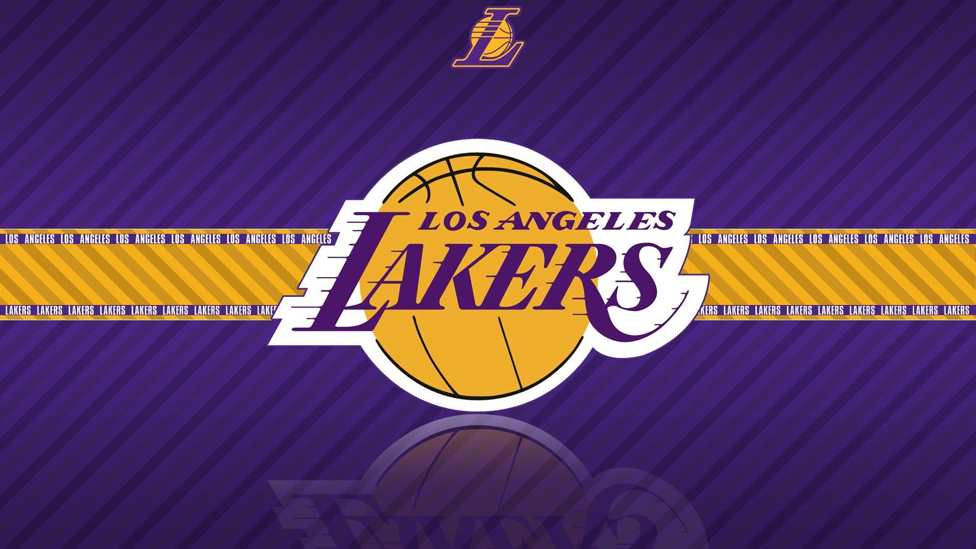NBA Los Angeles Lakers Team Logo HD Purple Wallpaper Widescreen Desktop 1920x1080px