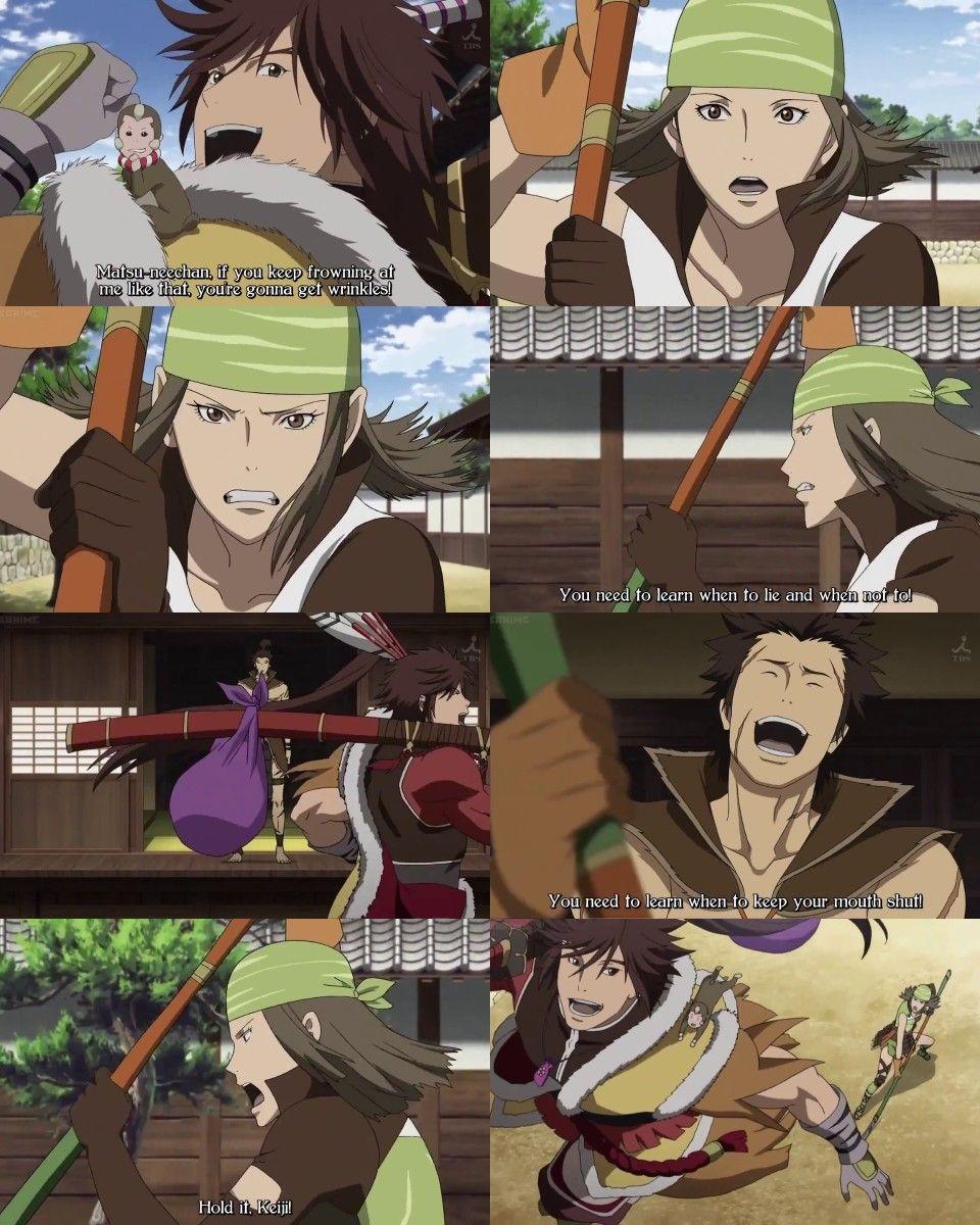 Maeda Keiji Maeda Toshi Matsu Sengoku Basara Anime