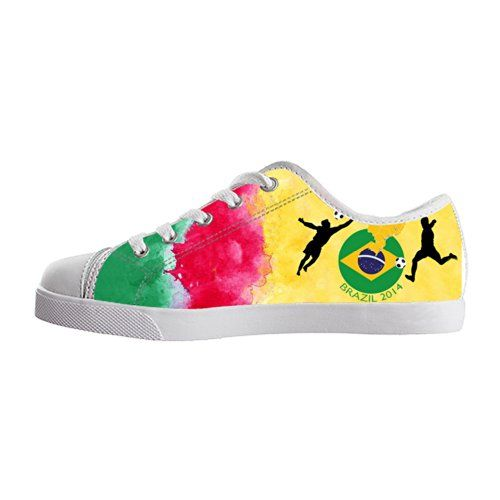 2b2e86f5f68070 Vic Kid Girl s 2014 FIFA Brazil World Cup Watercolour Cameroon Flags Casual  Fashion Sneakers Canvas Shoes