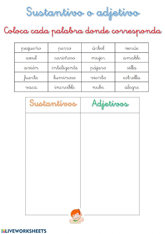 31 Ideas De Adjetivos Actividades Adjetivos Actividades Razonamiento Verbal Adjetivos