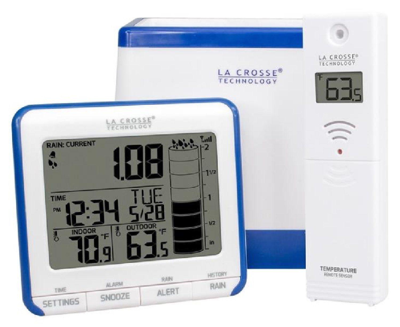 La Crosse Technology 724-1409 Wireless Digital Rain Gauge with in Temperature