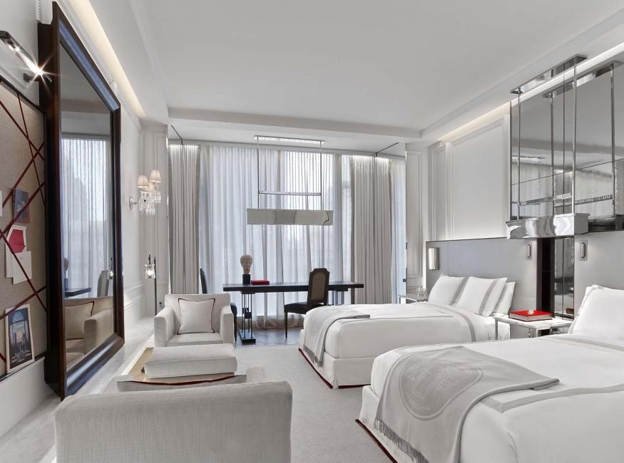 A Blend Of Both Traditional And Modern Aesthetics, The Grand Classic Room  With Two Double