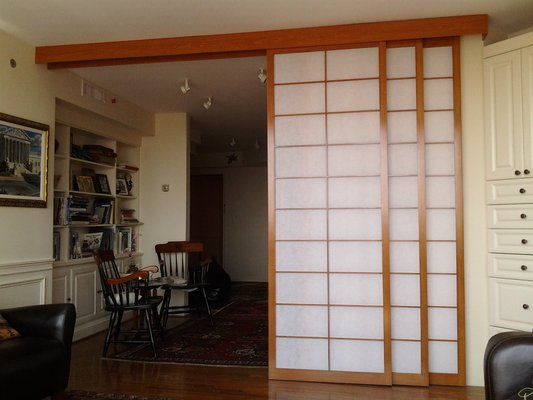 Sliding room divider shoji screens (shown open). | Yelp - Room Divider Panels IKEA Modern Room Dividers Ikea With Panel