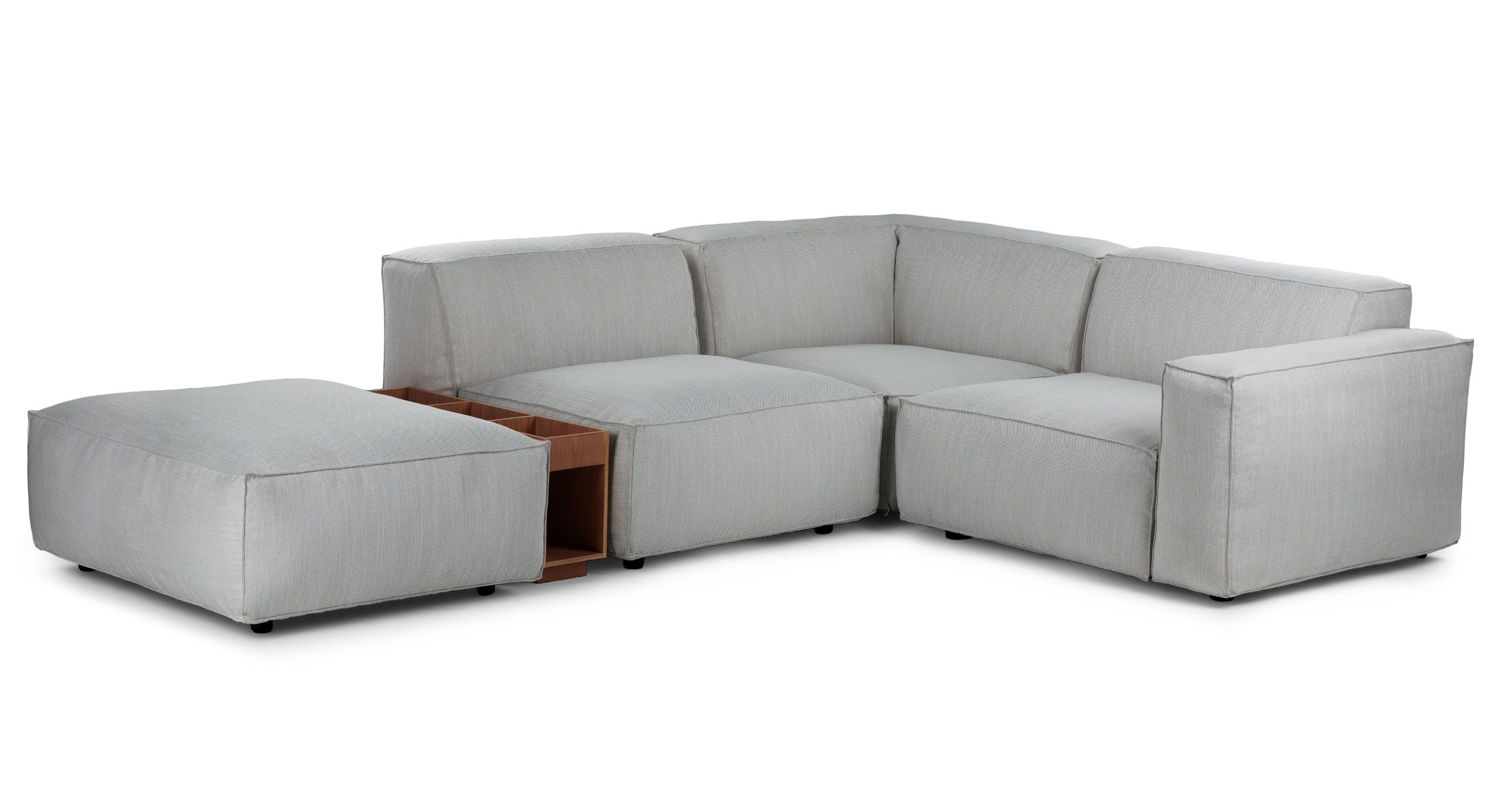 Solae Hush Gray Walnut Right Arm Corner Sectional With Images