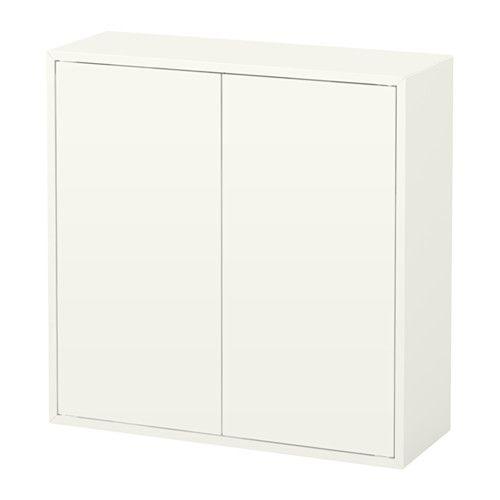 Schwebetürenschrank weiß ikea  EKET Schrank mit 2 Türen + 2 Böden, weiß | Ikea eket, Floor space ...