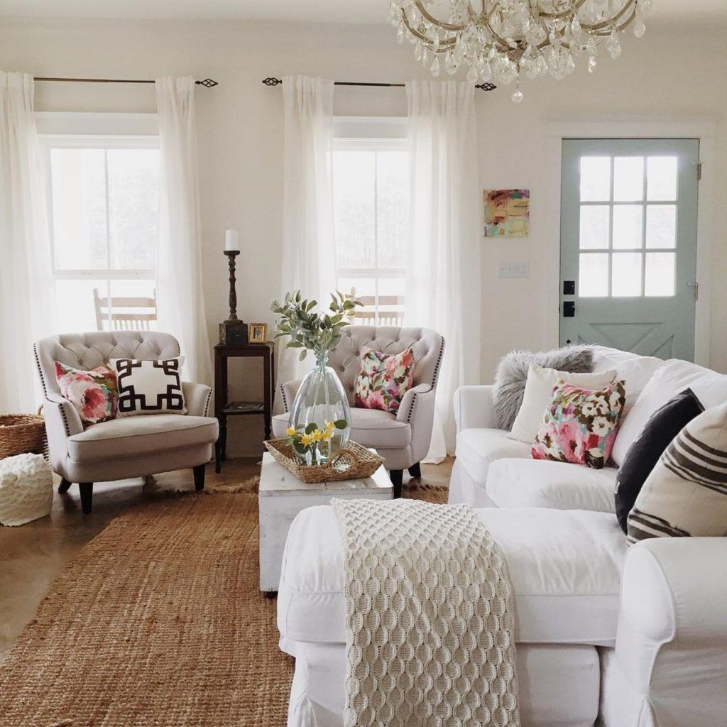 Chic And Colorful Living Room Decor For Spring: 21 Fresh Ways To Prepare Your Home For Spring