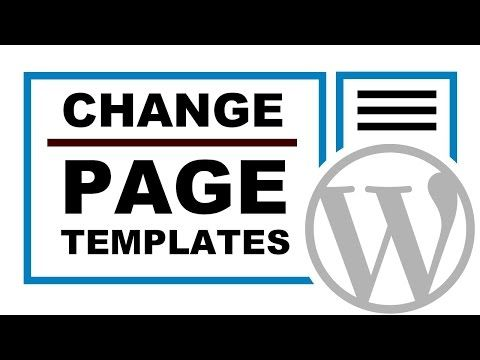 How To Change The Page Template In WordPress - https://www ...