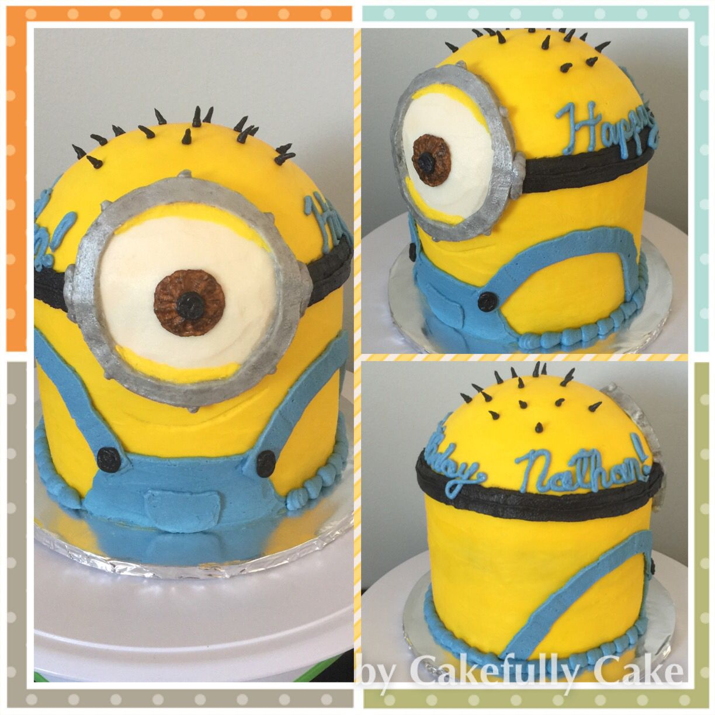 Minion Despicable Me Cake all sculpted buttercream no fondant
