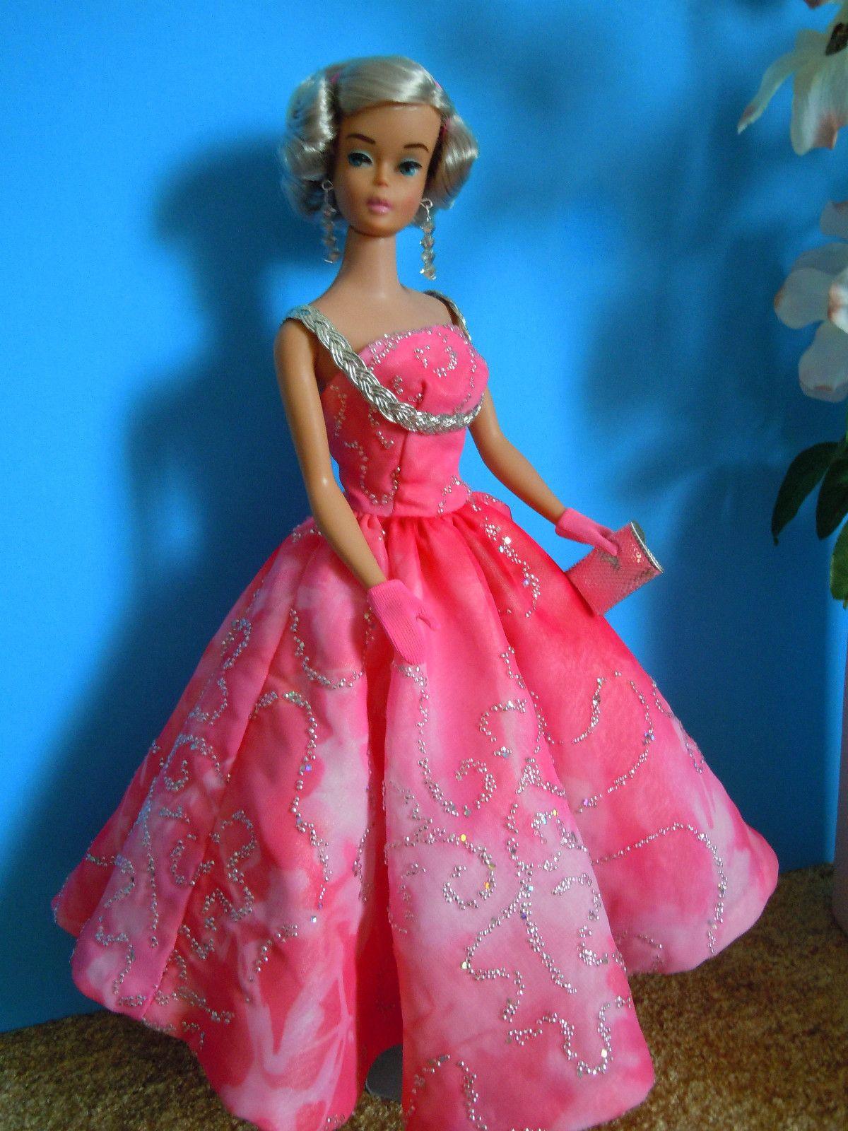 Vintage Barbie Bubble Cut Silver OOAK in OOAK Evening Gown by J Lee ...