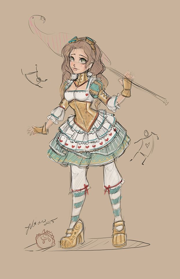 Steampunk Alice Sketch by NoFlutter on DeviantArt
