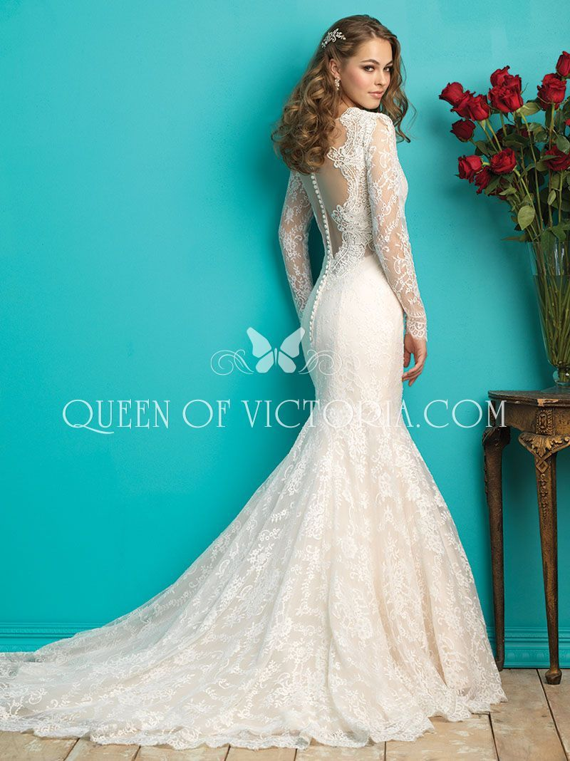 2018 Lace Mermaid Wedding Dress with Sleeves - Dress for Country ...