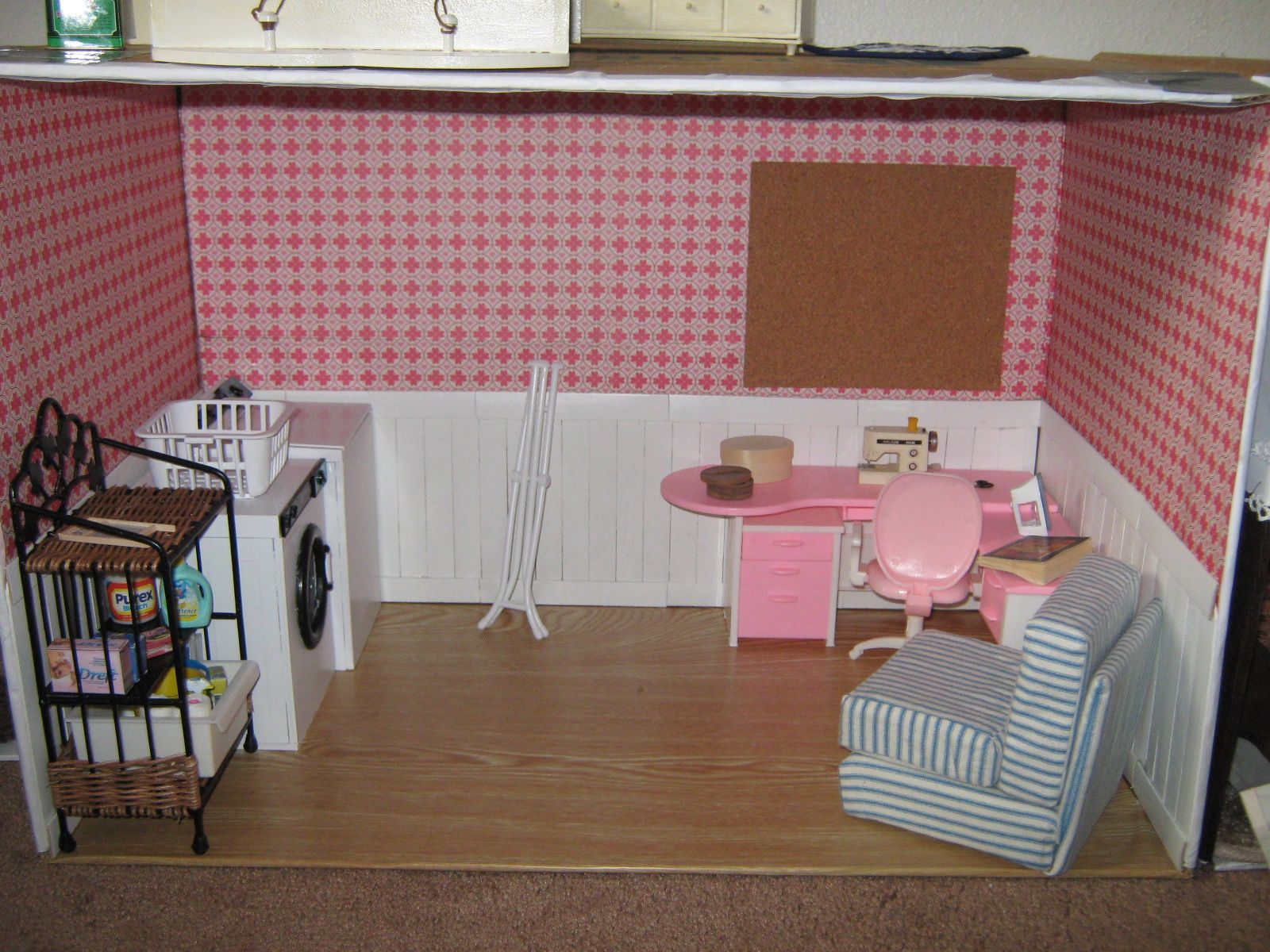 unfinished dollhouse furniture. Barbie Laundry/Sewing Room By KAYESS (unfinished) Unfinished Dollhouse Furniture