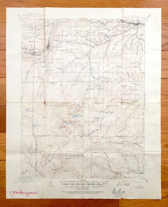 Antique Georgetown Colorado 1905 Us Geological Survey Topographic