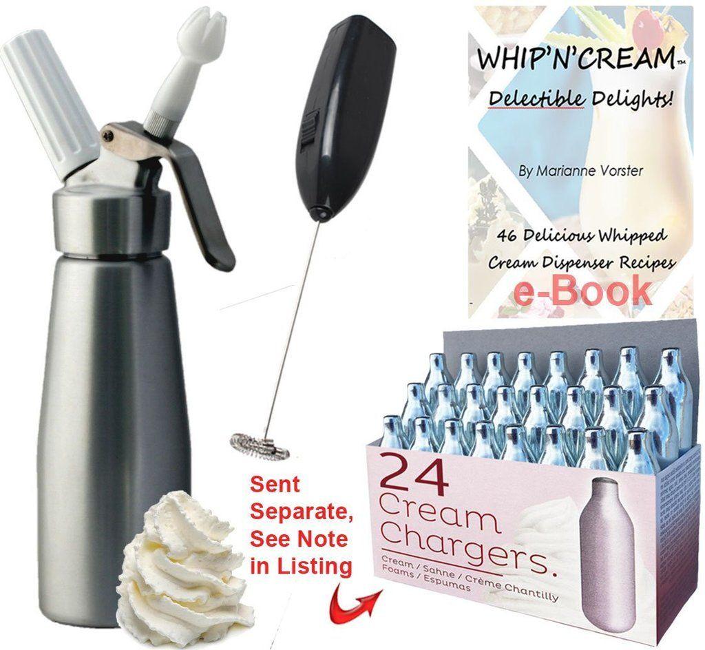 Combo Whipped Cream Dispenser BRUSHED ALUMINUM FINISH