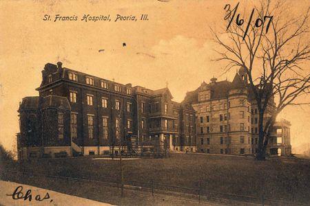 st francis hospital postcard1 peoria il in 2019 east peoria rh pinterest com