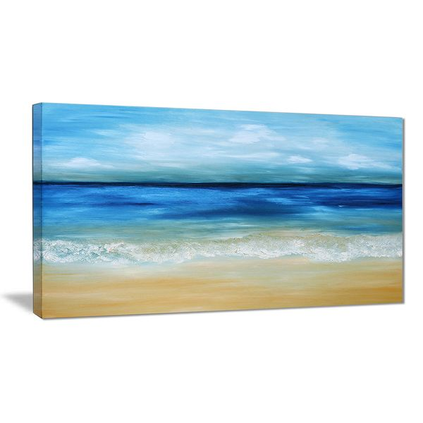 Designart Warm Tropical Sea And Beach Seascape Painting Canvas Print