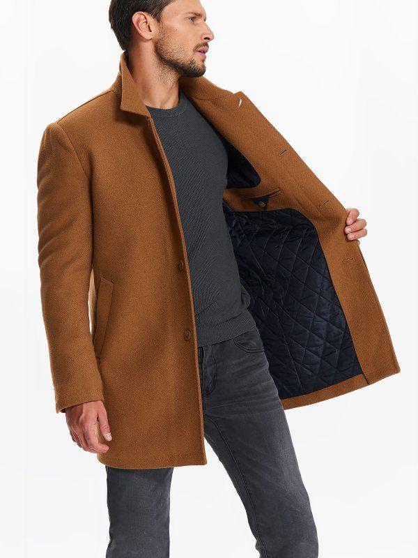 d63a0ab3efc819 Ciepłe zimowe i jesienne kurtki męskie. Eleganckie płaszcze zimowe dla  mężczyzn, promocje na kurtki