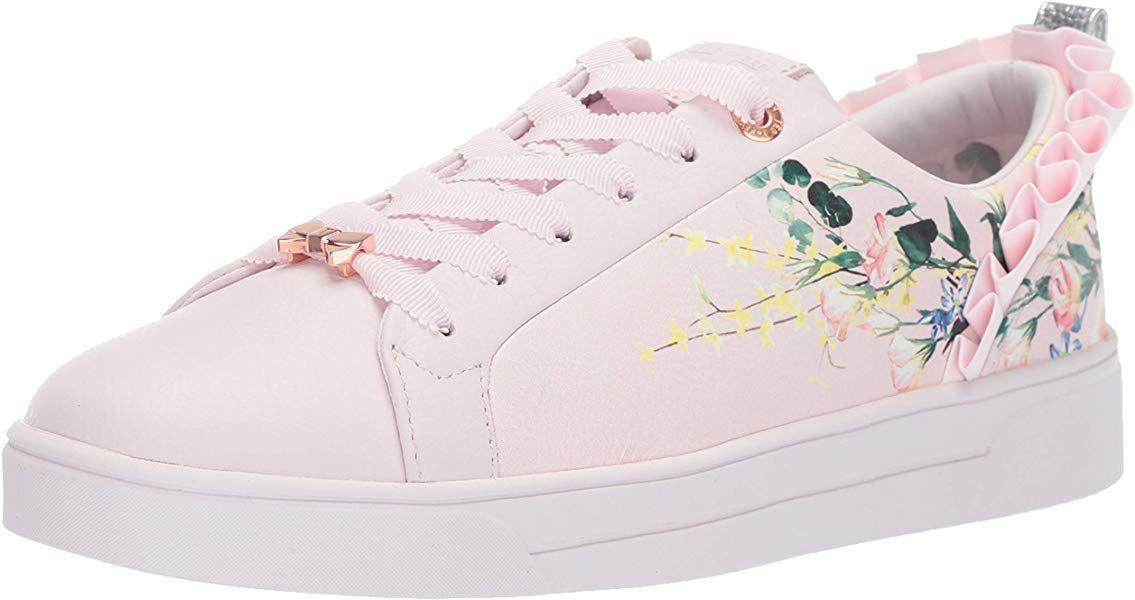 01b4ae38697e4 Amazon.com: Ted Baker Women's Astrina Sneaker, Elegant Pink Leather ...