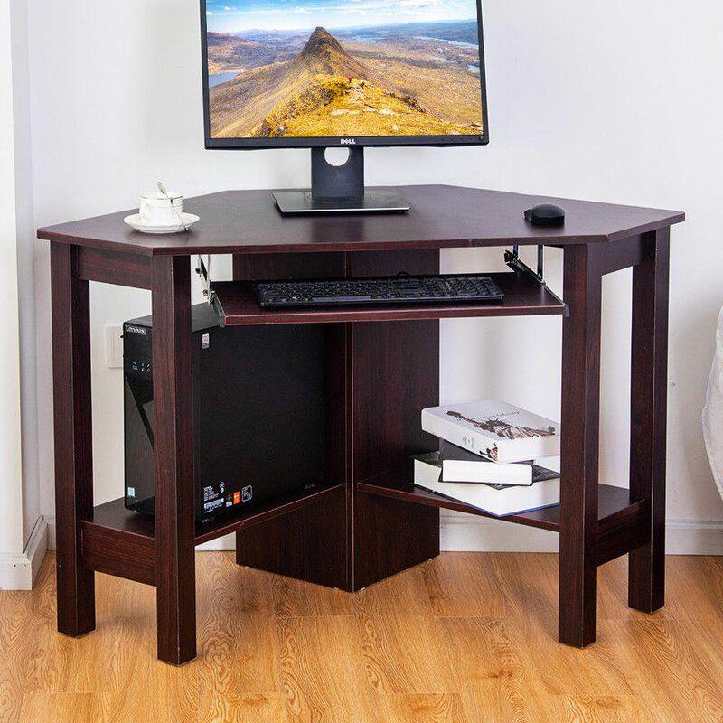 Carnesville Corner Desk Wood Corner Desk Desk Corner Desk