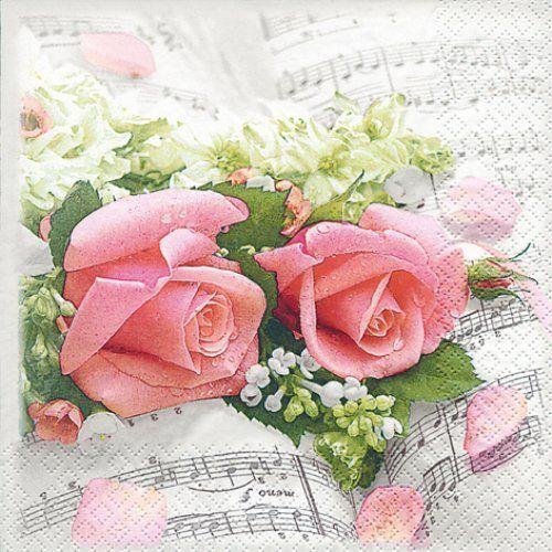 Serviette 'Blumen Symphonie'