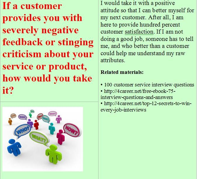 Related materials 100 customer service interview questions Ebook - top 10 resume examples