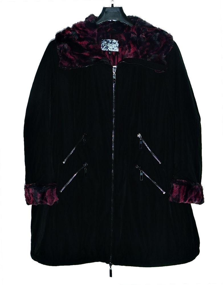 Giacca giaccone donna no secret 6062-4952 taglie forti comode 54 56 58 60 62 cbab7bac368
