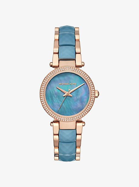 22a005b40bd Parker Pave Rose Gold-Tone And Acetate Watch