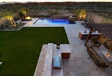 North Scottsdale Residence I Modern Landscape Design Pool Landscape Design Small Backyard Design