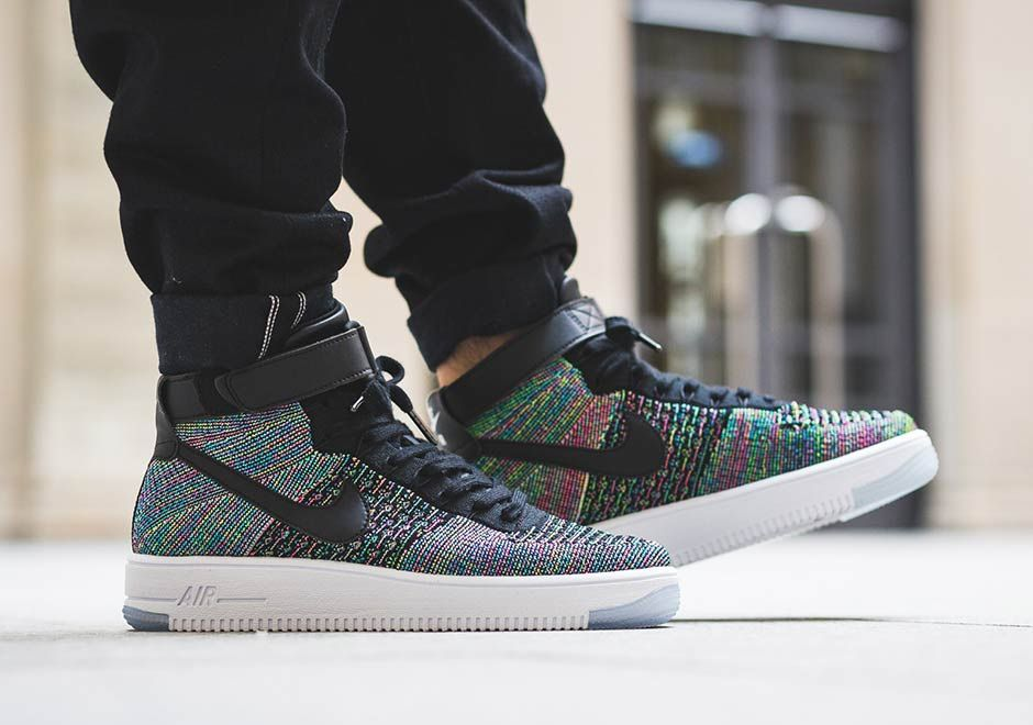 Nike Air Force 1 Mid Flyknit Multi Color 817420 601 | Nike