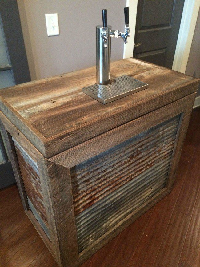 he turned a cheap freezer into an industrial kegerator for their wedding kegerator diy man on outdoor kitchen kegerator id=91216