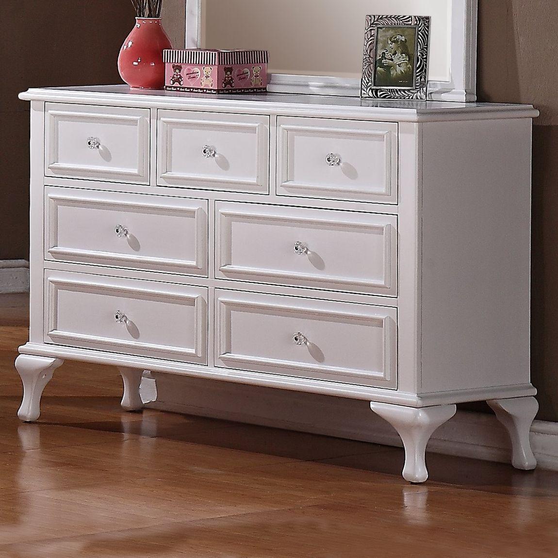 Elements International Js700dr Jillian Dresser Picket House Furnishings White Dresser 7 Drawer Dresser [ 1150 x 1150 Pixel ]