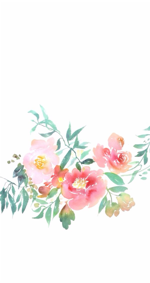 Cute Flower Watercolor Wallpaper