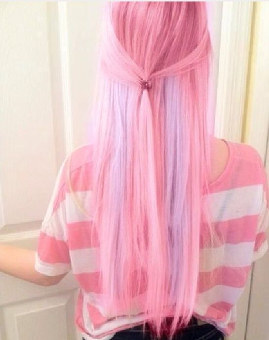 Bright Cotton Candy With Pastel Purple Streaks