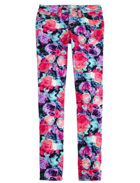 Floral Printed Super Skinny Jeans | Girls Super Skinny Jeans & Jeggings | Shop Justice