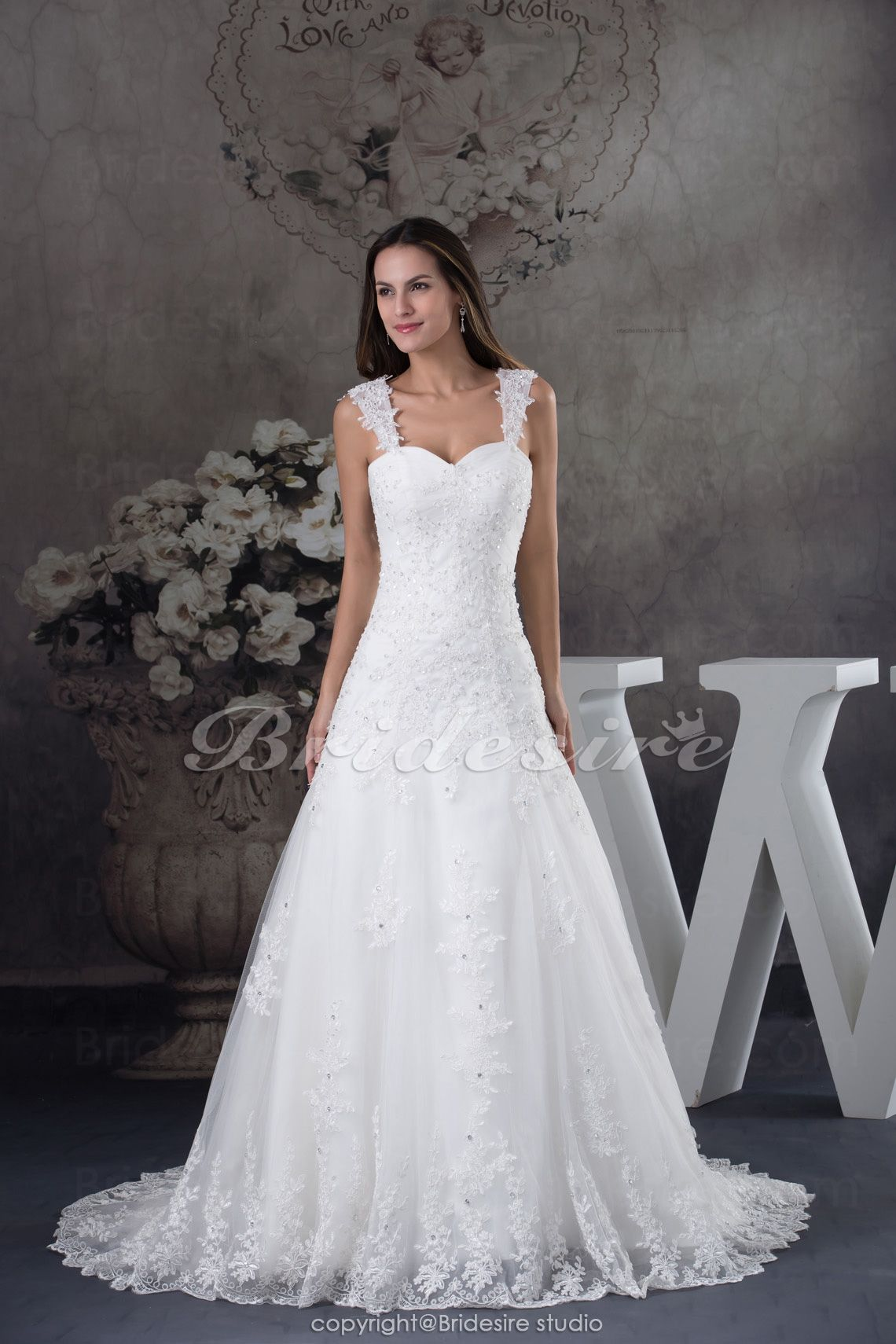 A linje stropper bane tog rmels blonde brudekjole bridal gorgeous church a line thick straps sweep train sequin bridal gowns ombrellifo Gallery