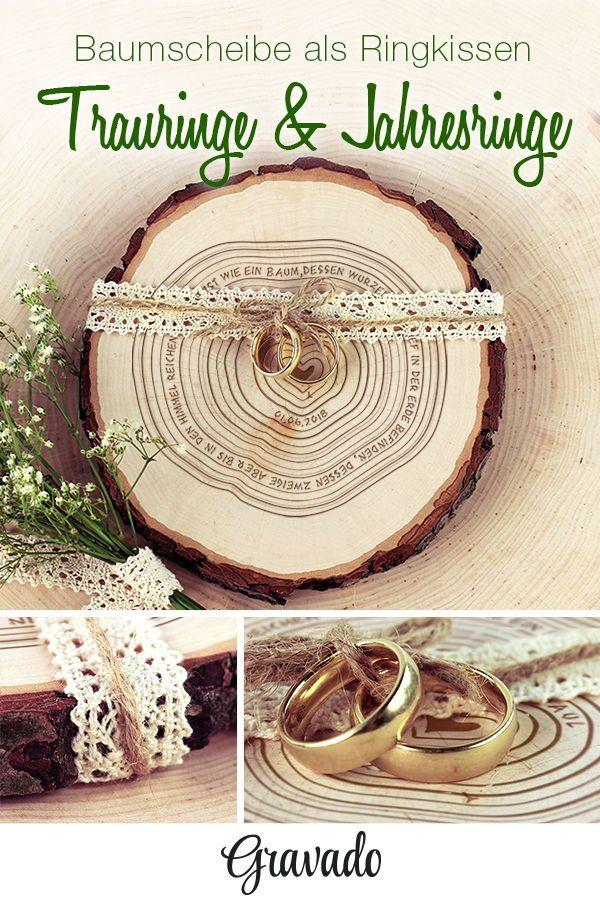 Baumscheibe Mit Gravur Jahresringe Personalisiert In