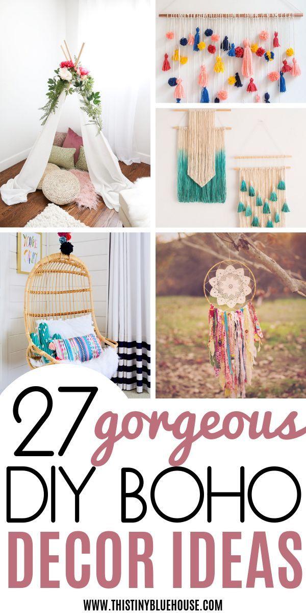 27 DIY Dollar Store Boho Craft Ideas images