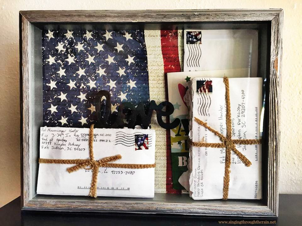Diy Shadow Box For Your Deployment Letters Deployment Letters Military Shadow Box Military Crafts