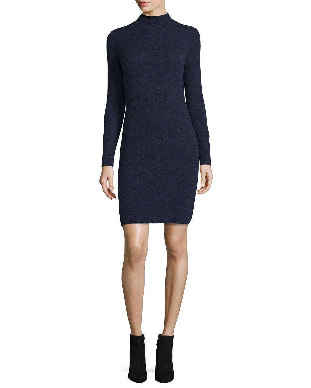 Cashmere longsleeve turtleneck dress long sleeve turtleneck dress