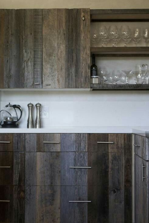 D I Y Upscaling The Kitchen Cabinet On A Budget Covering The Front Pannels With Refacing Kitchen Cabinets Reclaimed Wood Kitchen Farmhouse Kitchen Cabinets