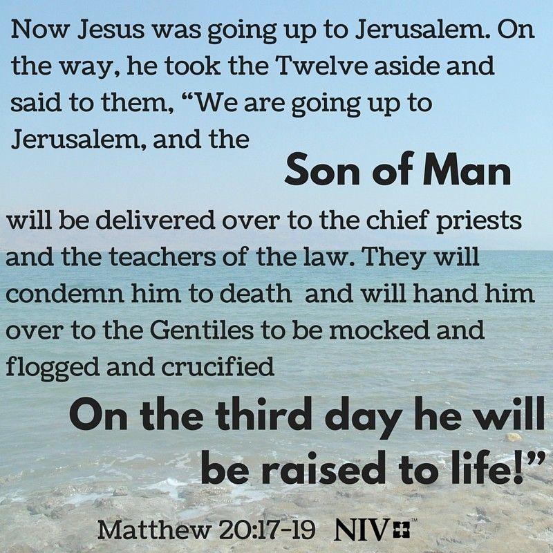 niv verse of the day matthew 20 17 19 worship pinterest