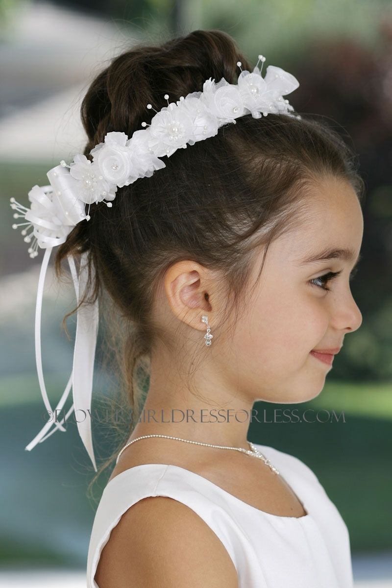 Hair piece- flower girl...this one reminds me of one I wore in my ...
