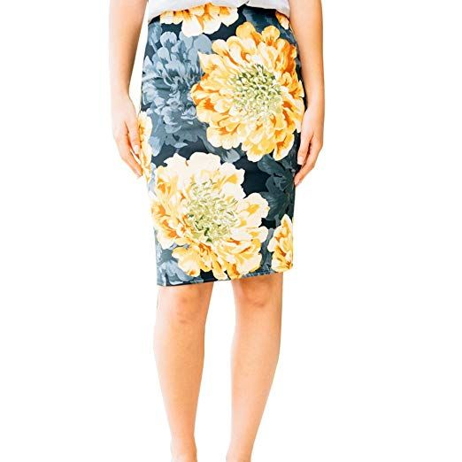 2261c1bb3 Amazon.com: Women's High Waist Floral Midi Pencil Skirt Vintage Office Wear Bodycon  Skirt: Clothing