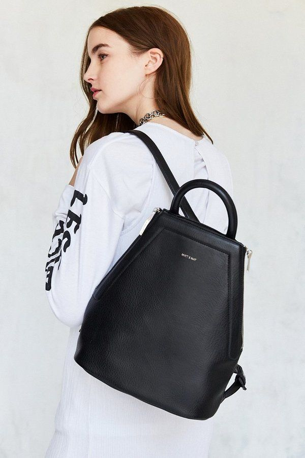 Classically Cool Leather Backpack