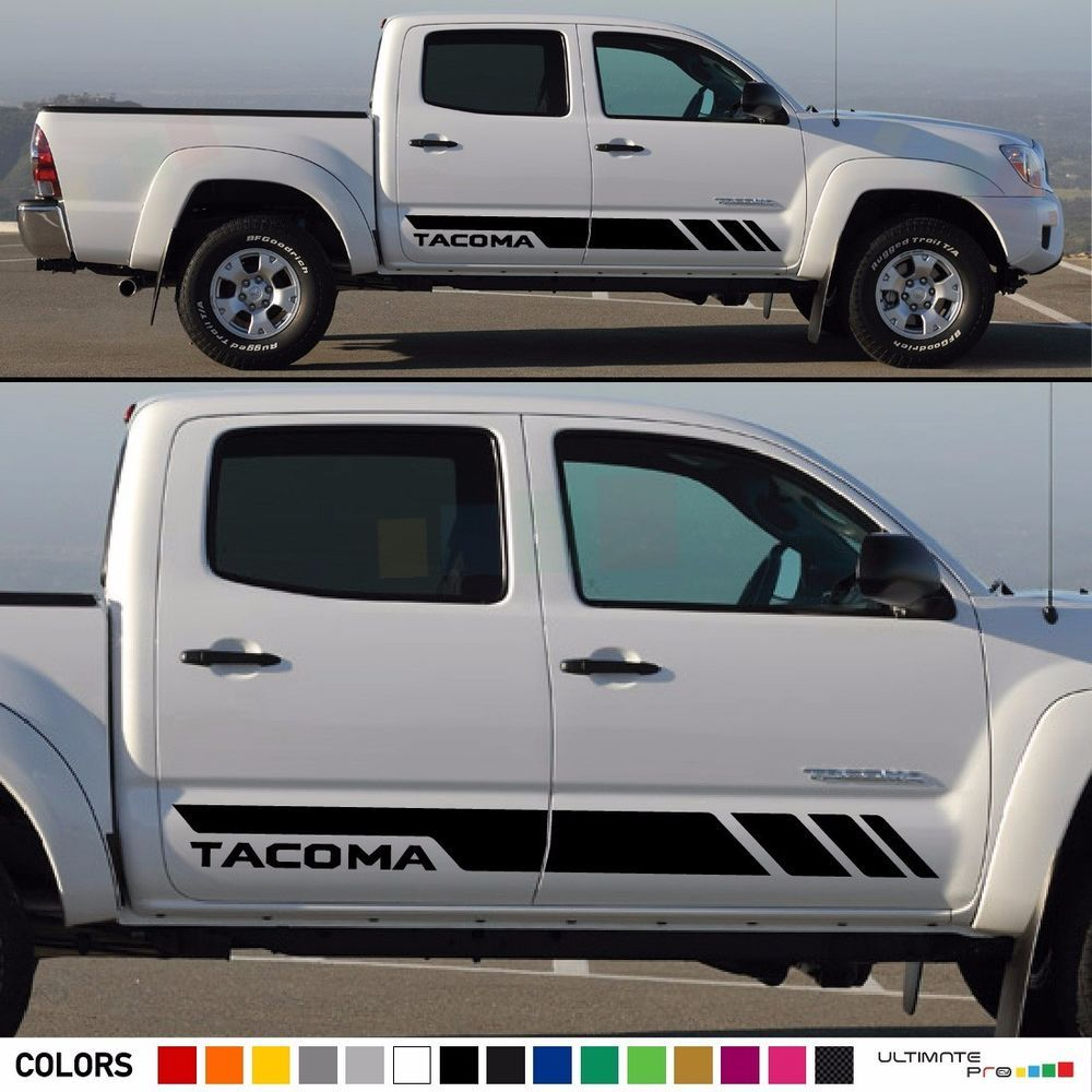 Decal sticker stripes kit For TOYOTA side steps