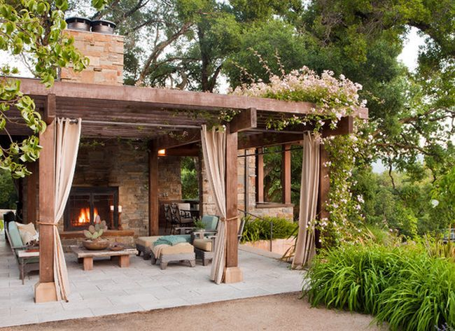Porches con encanto chillout jardines y exteriores - Porches de casas de campo ...