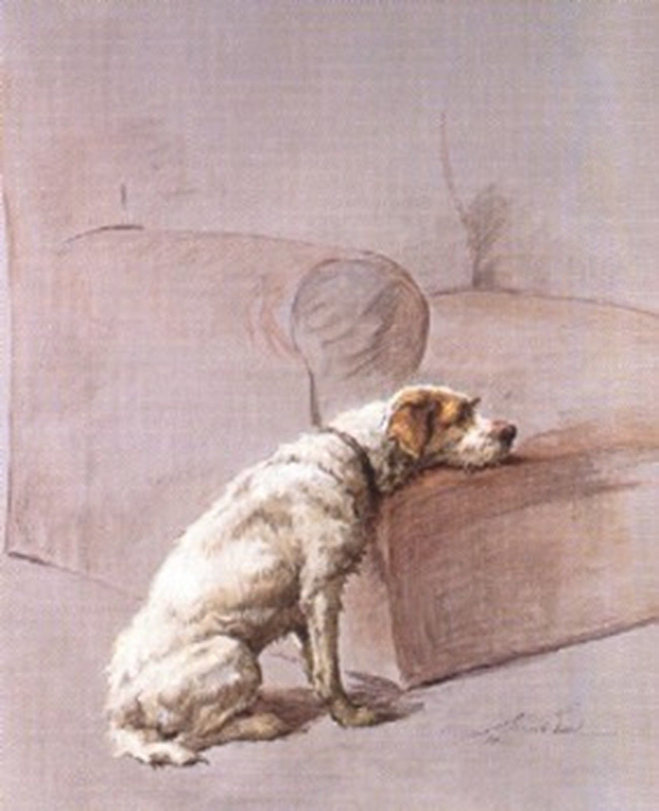Silent Sorrowcounted Cross Stitch Pattern #1849Vintage Animals Dog Graph Chart