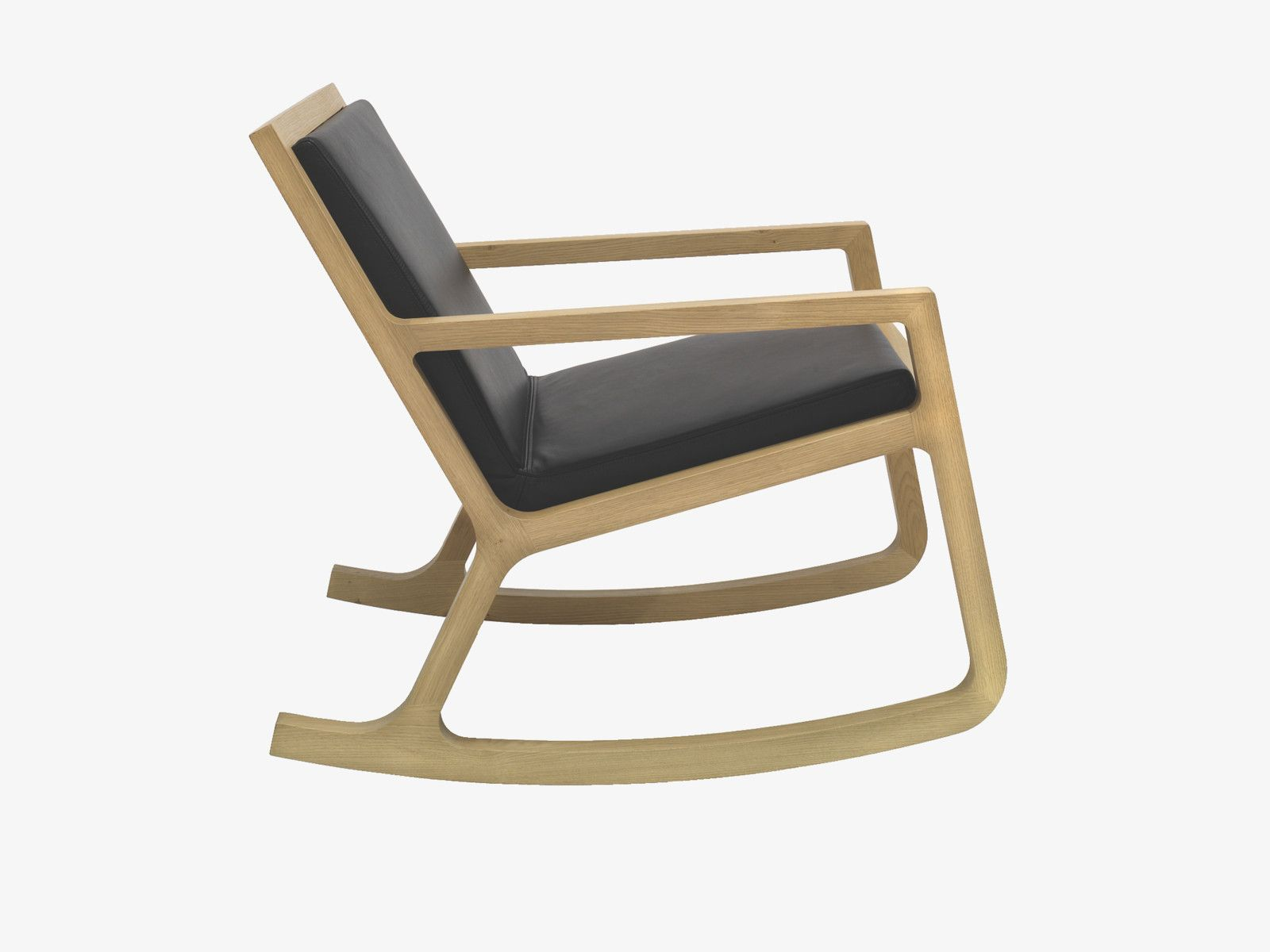 ROCKER BROWN Wood Rocking chair