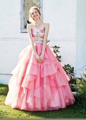 Pretty pink dress with frills